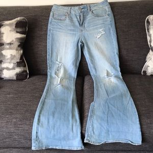 American eagle bell flare jeans size 12 EUC